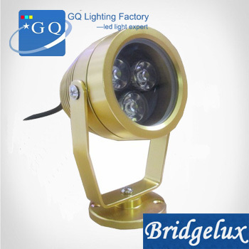 20pcs/lot DHL Fedex free shipping 3W LED underwater light  lamp IP68 golden waterproof lighting geyser pool pond  DC12V