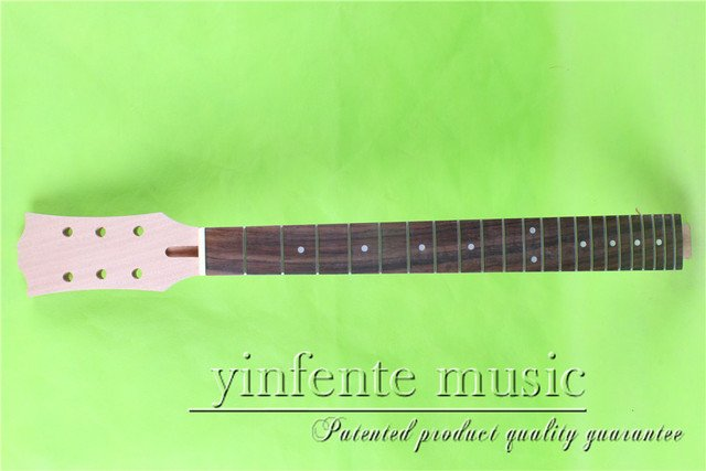 """L -00138 #  unfinished   24.75"""" Electric guitar neck fine quality rosewood    fingerboard"""