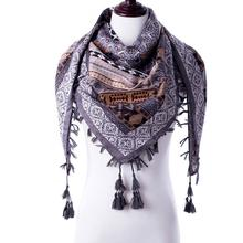 Hot sale new fashion woman Scarf square scarves Printed Women Wraps Winter autumn ladies shawl Luxury Brand tassel