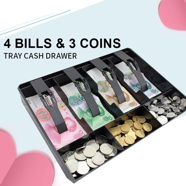 Money Cash Coin Register Insert Tray Replacement Cashier Drawer Storage Cash Register Tray Box Classify Durable Organizer