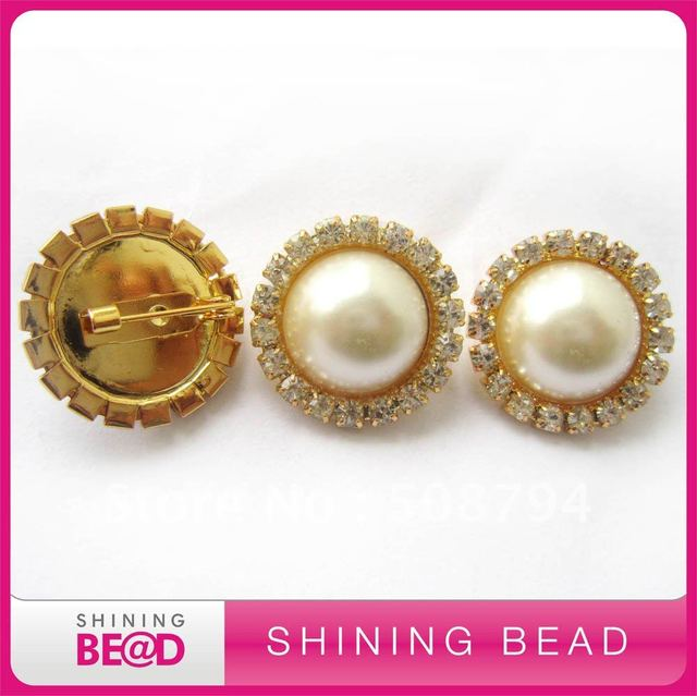 pearl rhinestone brooch for wedding,free shipping,high quality,competitive price,22*22mm round pearl rhinestone brooch