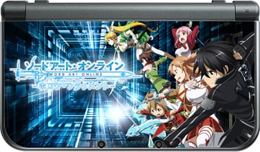 Sword Art Online SAO Game Front&back Decal Sticker Skin For Nintendo New 3DS XL Console Skins For New 3DS LL