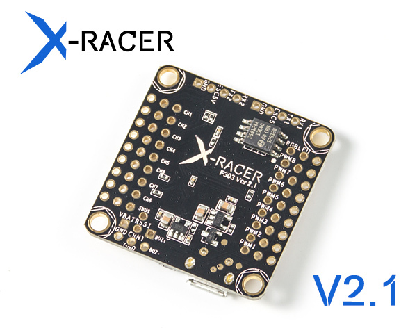 X-Racer F303 Flight Controller V2.1 X-Racer F303 flight controller have been upgraded to V2.1, we'll send Controller V2.1 to you