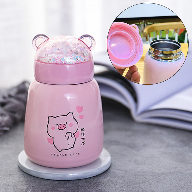 Pig Insulated Tumbler Vacuum Cup Thermos Cup Cute Modern Soup Gift