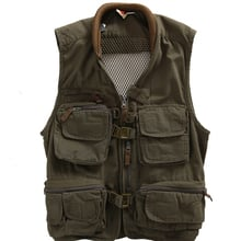 Man and Women Outdoor Cotton Tactical Fishing Vest Photography Vest Multi-pocket Classic Multifunctional Vest free shiping