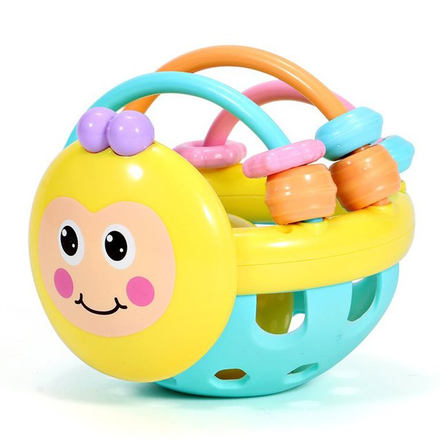 2018 Drop Shipping Bee Bell Interesting Educational Hand Ringing Music Fun Early Childhood Education Catch Ball Soft Ball