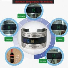 Big sale Stainless Steel Wine Bracelet Thermometer 4--26 degree centigrade Red Wine Temperature Sensor Wine Thermometer