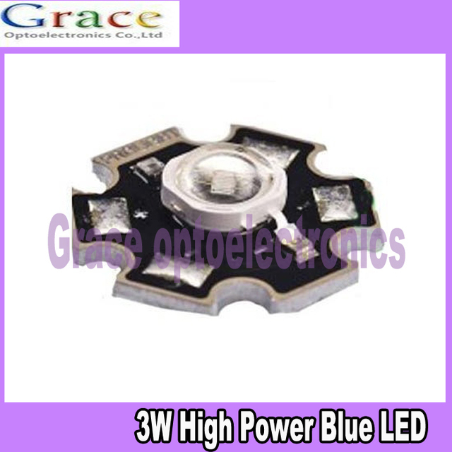 10PCS 3W High Power Blue LED Emitter 465-475nm 60lm with 20mm Star Base