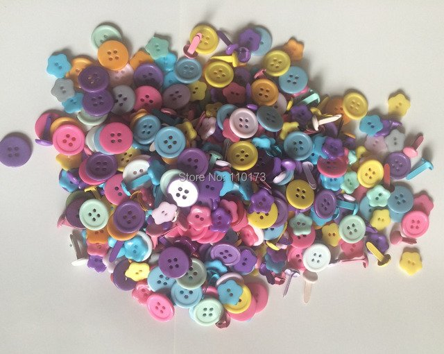 china scrapbook embeliishments-buttons and brads assorted embellisments for scrapbooking