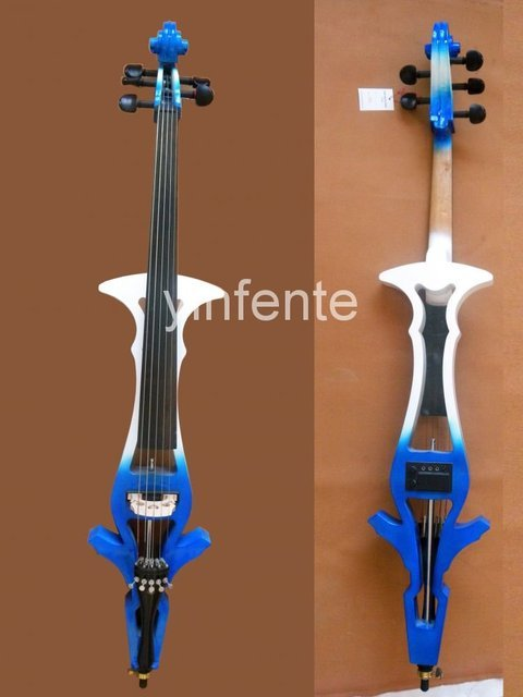 4/4 full size New  Electric cello Powerful Sound White Blue Black Yellow solid wood Ebony parts #20