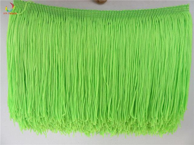 10 yard/lot 15CM Long Apple green Polyester Fringe Trim African Tassel Ribbon Lace Sew Latin Dress Garment Curtain Accessories