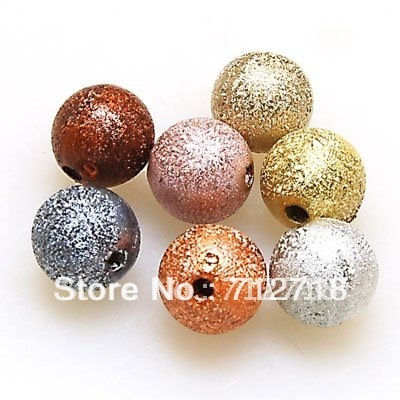 Loose beads,wrinkle beads 4mm Shimmering round plastic Beads, stardust bead sold of one pkg