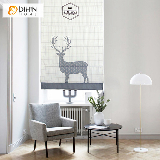 Included Curtains  Cartoon Fashion Window Curtain Thickening Linen/Cotton Rollor Blind Roman Shade Blinds Customized Curtain