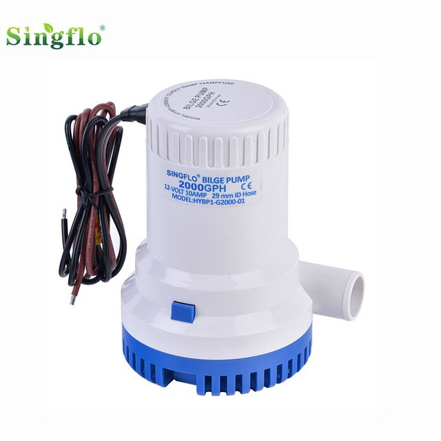 Singflo1500GPH 12v dc high flow submersible boat pump