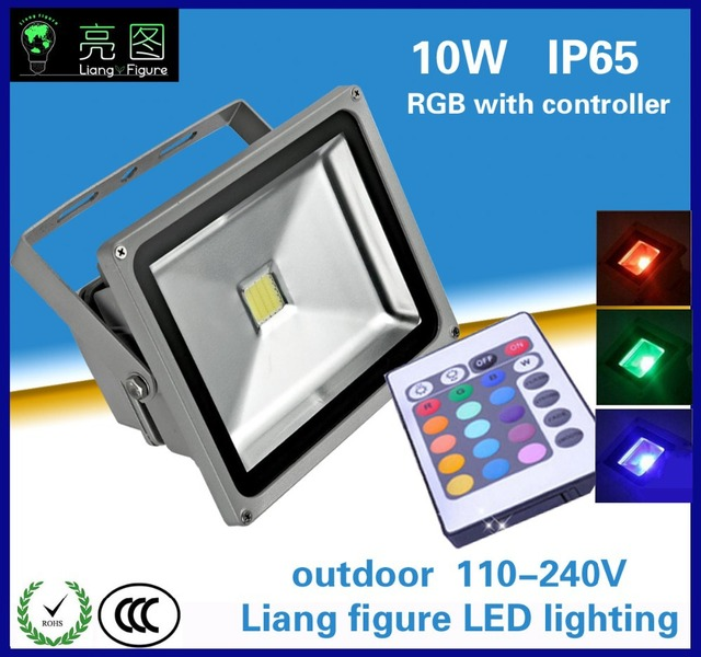 10W colorful led floodlight DC90-260V IP65 led spotlight lamp forsquare hotel  wedding