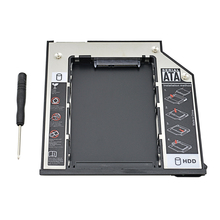 "TISHRIC 2nd HDD Caddy 9,5 мм SATA 3,0 2,5 ""SSD HDD Box Корпус для Dell E6310 E6400 E6500 E6410 E5400 M2400 M4500 Pro OptiBay"