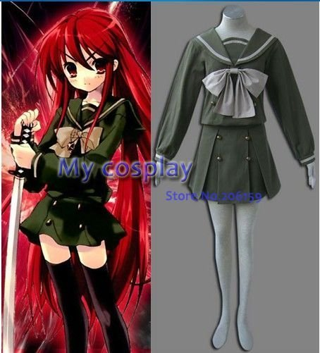 Shakugan No Shana Syana Cosplay Costume halloween party dress-- Freeshipping