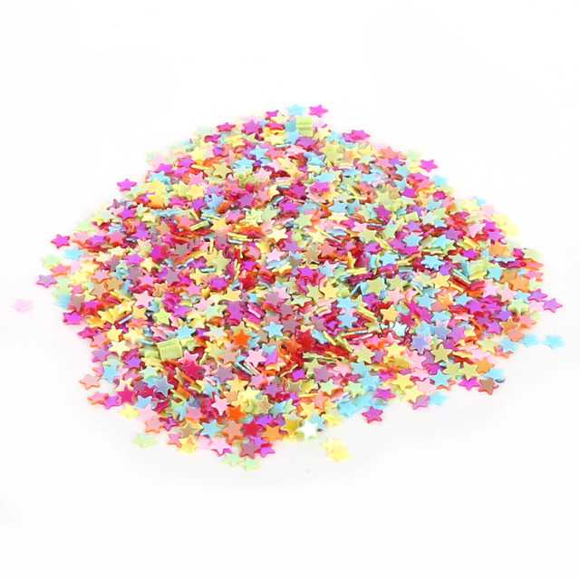 13000PCS 3mm Mix Five-Pointed Star Loose Sequins For DIY Clothing Accessory Craft Scrapbooking Paillette Wedding Art Decoration