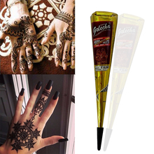 Natural Henna Cone Temporary Waterproof Tattoo Ink 30g Indian Black Tattoo Inks Body Tattoo Paint DIY Drawing Last 15 Days TSLM1