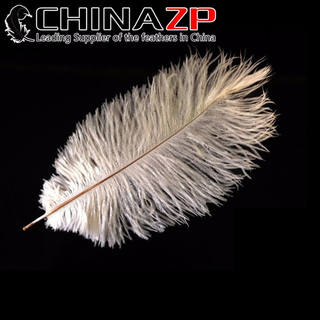 """CHINAZP Factory 10""""-12"""" (25-30cm) Length Good Quality Bleached White Ostrich Plumage Feathers"""