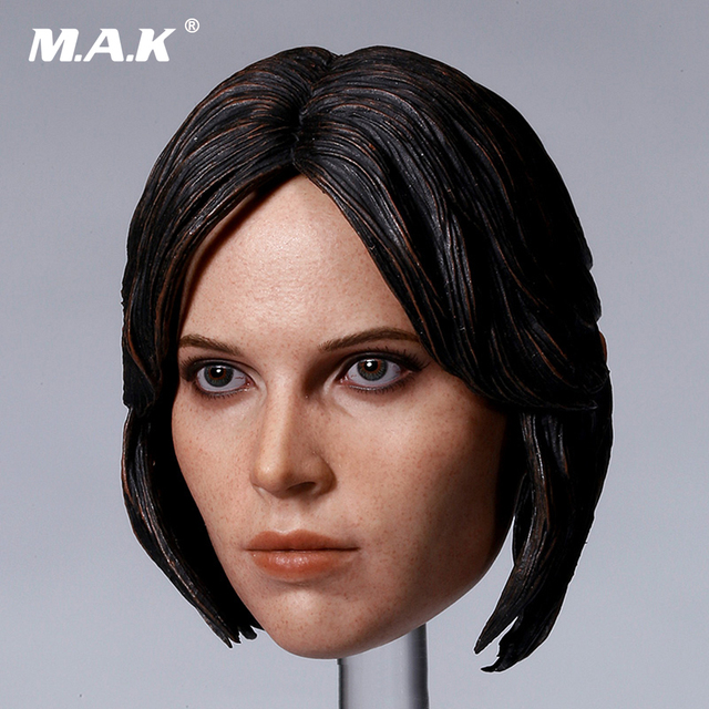 1/6 Scale Female Felicity Jones Head Scuplt Carved Model for 12 inches Action Figure Body Accessory