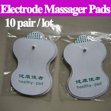 Promotion 10 pair /lot good quality white Electrode Pads for Tens Acupuncture,Slimming massager Digital Therapy Machine Massager