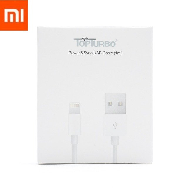 Original Xiaomi USB Cable MFI For iPhone 5 5S 6 6S 7 8 Plus X XS Max XR Fast Charging 1m USB Charging Data Sync Cable With Box