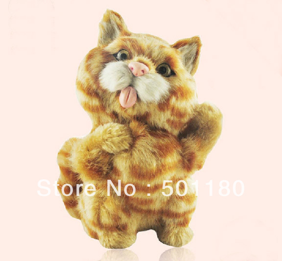 free shipping lucky charm cartoon cat artificial crafts animal cat toy decoration cat figurine toy simulation cat toy