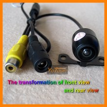 Car 170 angle mini CMD camera the transformation of front view and rear view
