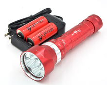 New SKYRAY DX5 26650 flashlight Professional Diving 5 x Cree L2 LED 8000 Lumen 100m Diving Flashlight Torch Light