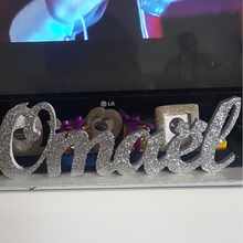 Glittered Name word signs Kids Personalized Wooden Name Signs - Children's Name Wall Decor, Wooden Letters