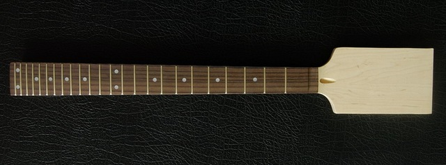 New High Quality Unfinished electric guitar neck    Solid wood   fingerboard NEW model 1pcs #5