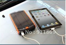 Super Power bank 23000mAh Solar Charger for Mobile phone iPhone ipod ipad tablet PC Emergency External Battery Fast DHL