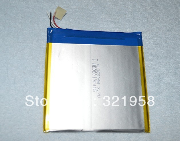 3.7V 3600mAH(Real) Battery 7 Inch  ZXC Z7 MTK8377, JXD P1000, OMEI X5,DUOMI X7 MTK8377 Tablet PC 3.6*90*94mm