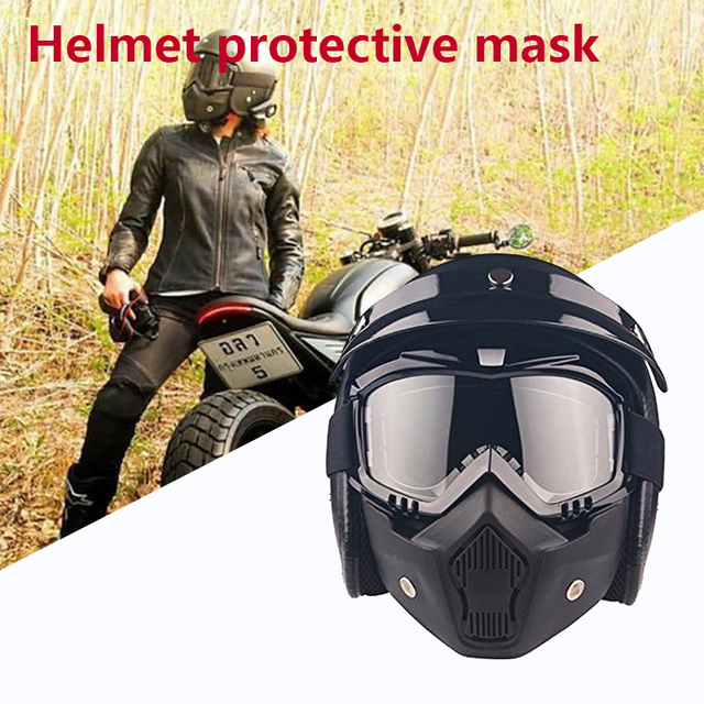 Motorcycle Helmet Hats Sports Crashworthy Creativity Anti-Vibration Outdoor Cycling Racing Multi Pattern ABS Riding Mask