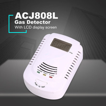 Combustible Gas Detector Sensor Alarm LPG Natural Gas Analyzer Leak Determine Tester Voice Alarm Security Alarm System
