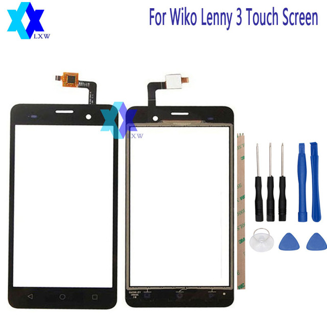 For Wiko Lenny 3 Touch Screen Original Guarantee Original New Glass Panel Touch Screen 5.0 inch Tools+Adhesive Stock