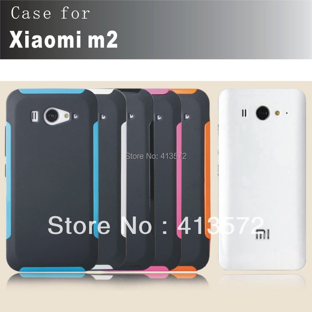 Changable case +colorful border for XIAOMI M2 2 mi2, 1.2m anti-drop, with free screen protector!~~