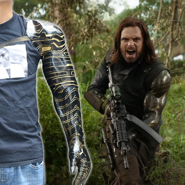 2018 New Winter Soldier Arm Avengers Infinity War Bucky Barnes Cosplay Armor Arm Cosplay Costume Halloween Party