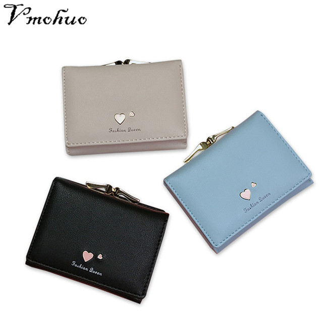 VMOHUO New Fashion Design Women Coin Case Cute Hot Short Wallet Mini  PU Leather Purse Good Quality Hasp Coin Pouch