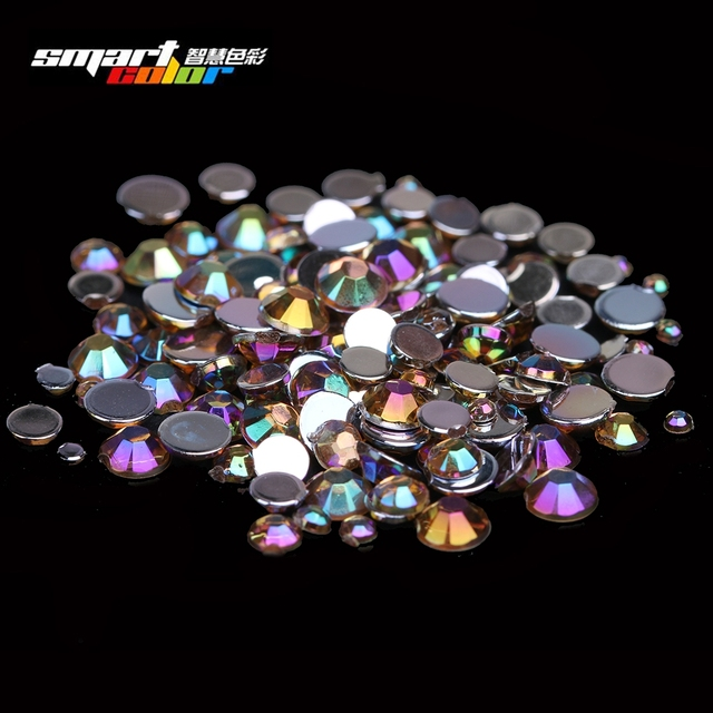 Newest Fashion Coffee AB Color Many Sizes Acrylic Rhinestones Shoes Clothing Decorations Sparkling Nail Art Decorations
