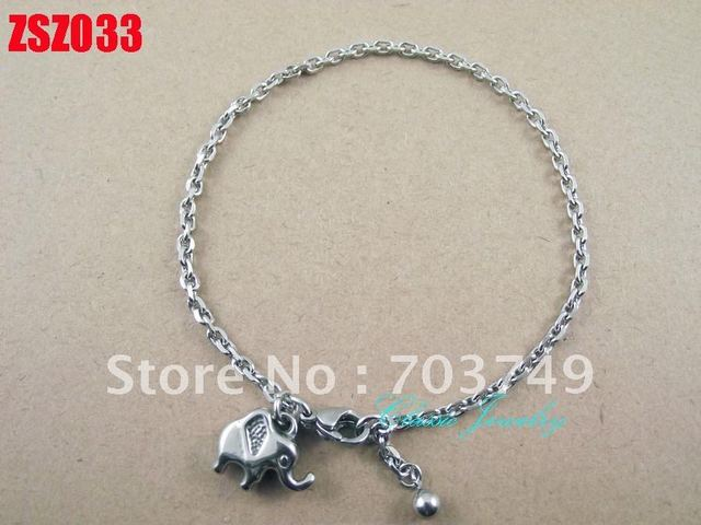 elephant calf  fashion stainless steel Bracelets chain lovers women lady gift fashion jewelry 30pcs ZSZ033