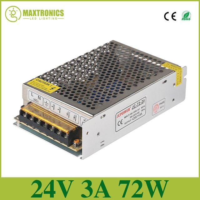 DC24V 3A Universal Regulated Switching Power Supply DC24V  Voltage transformer for  LED strip lamp