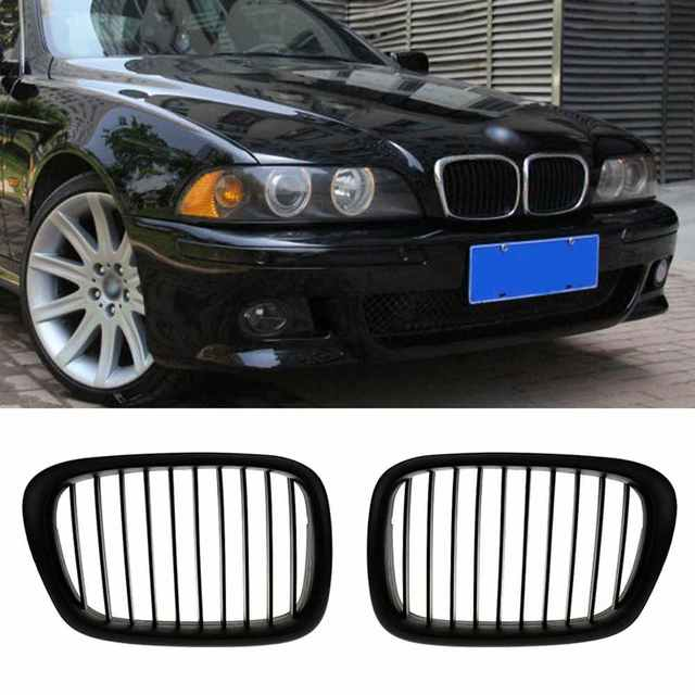 2Pcs Style Front Kidney Grille Grill For  BMW E39 5Series 95-04 Grille de rein avant car-styling XNC