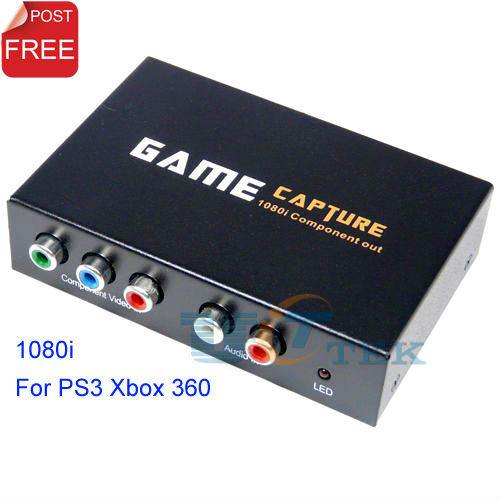 HD1080i Gamecap USB 2.0 Component Video Game Capture + L/R Audio Recorder Converter For PS3 XBOX 360 on PC Singapore Post