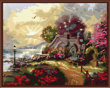 Abstract Frameless Pictures DIY Digital Canvas Oil Painting Home Decoration Landscape Painting By Numbers G097