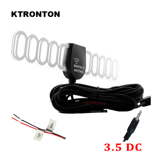 DC 3.5 Connector! 5M Car DVB-T ISDB-T Digital TV Active Antenna Mobile Auto Aerial with Amplifier Booster for Car Digital TV Box