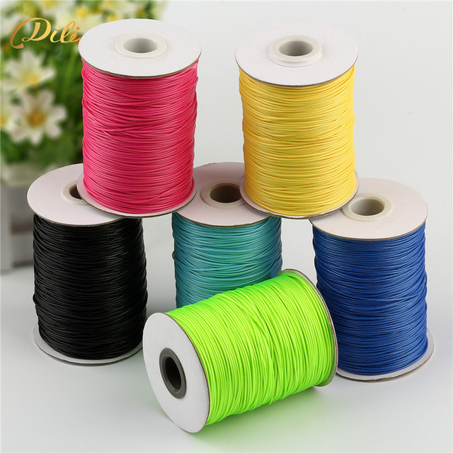 5 Rolls Waxed Thread 150 Meters/roll Polyester Cord String Strap Wholesale Necklace Rope 1mm diameter