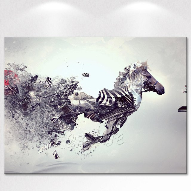 Canvas Print Animal hourse Oil Painting Wall Art Picture Printed on Canvas wall pictures for living room decorative pictures art
