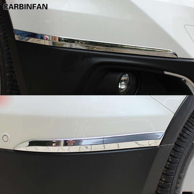 Front Rear Bumper corner protection trim frame edge board ABS Chrome 4pcs/set For Suzuki S-cross scross SX4 2014 2015 2016 2017